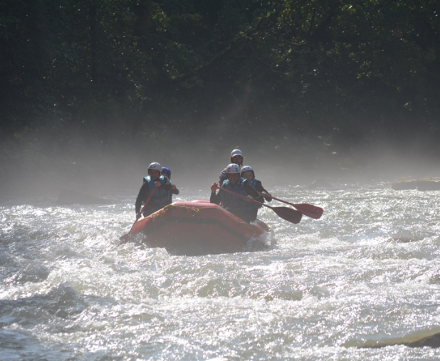 rafting in the alps down the dranse river