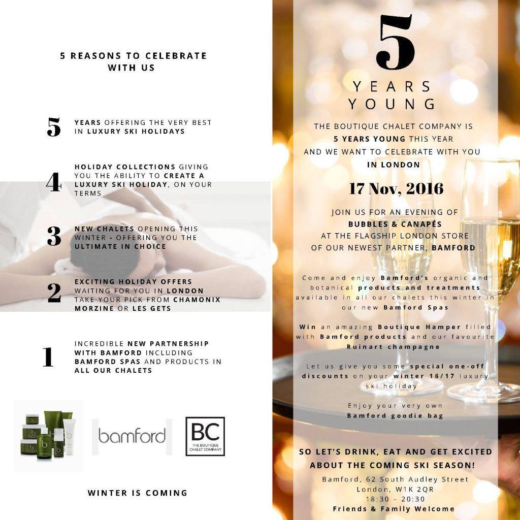 birthday invite boutique chalet company