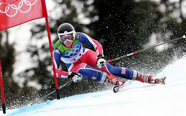 olympic skier GS downhill